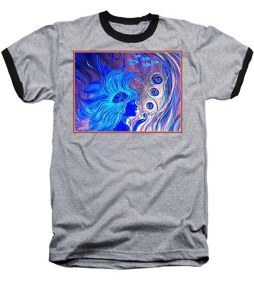 Maremaid  Baseball T-Shirt by Yolanda Rodriguez