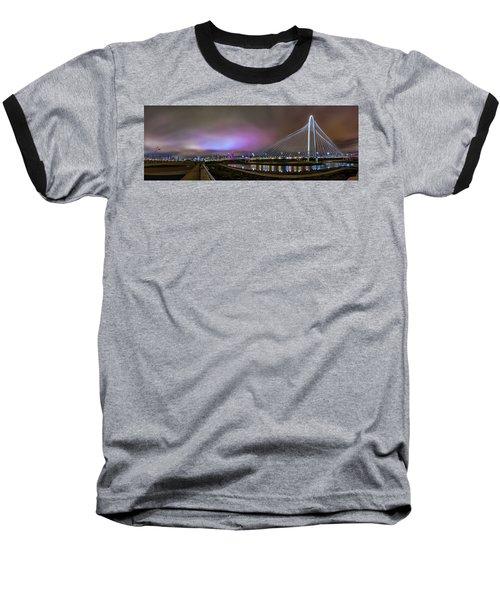 Margaret Hunt Hill Bridge - Dallas Texas Baseball T-Shirt