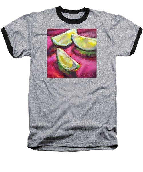 Margarita Limes Baseball T-Shirt by Tracy Male