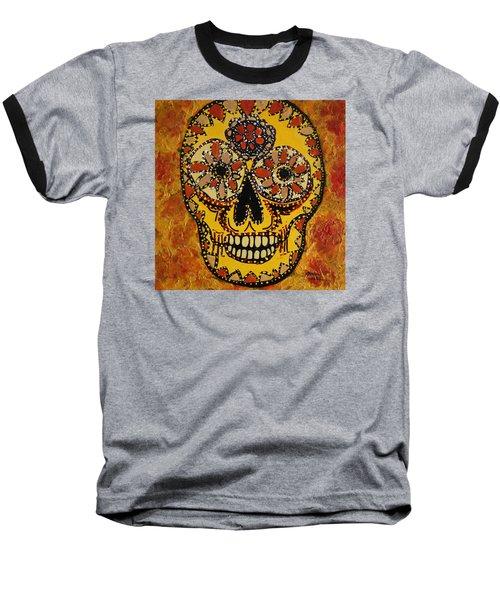 Marigold Skull Baseball T-Shirt