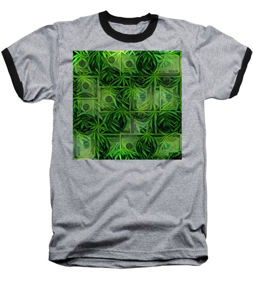 Marijuana Dollars Baseball T-Shirt