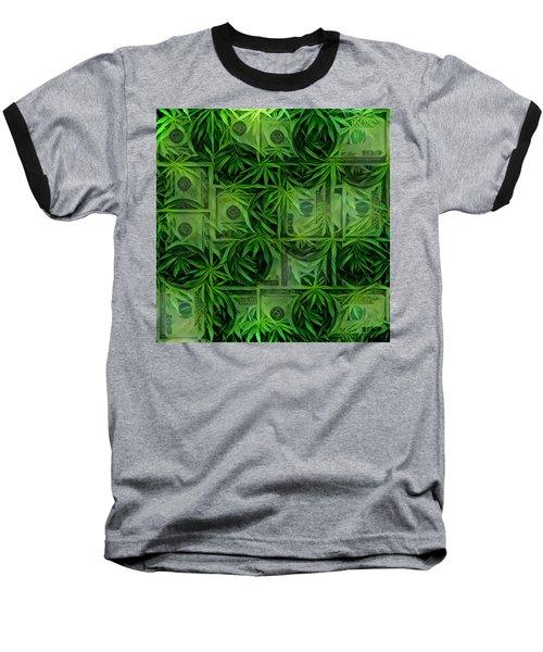 Marijuana Dollars Baseball T-Shirt