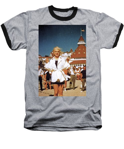 Marilyn And Turrett Baseball T-Shirt
