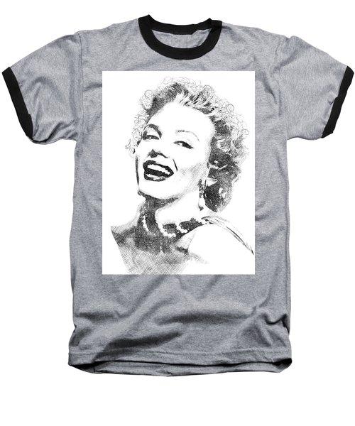 Marilyn Monroe Bw Portrait Baseball T-Shirt