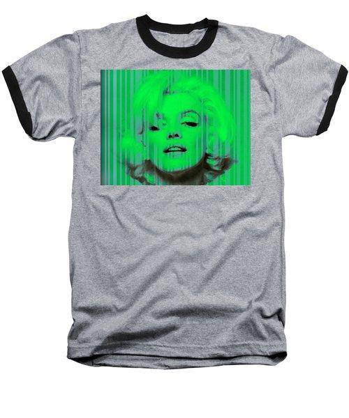 Marilyn Monroe In Green Baseball T-Shirt by Kim Gauge