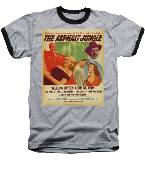 Marilyn Monroe In The Asphalt Jungle Movie Poster Baseball T-Shirt