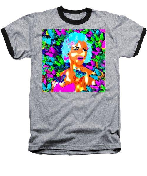Marilyn Monroe Light And Butterflies Baseball T-Shirt
