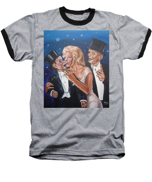 Marilyn Monroe Marries Charlie Mccarthy Baseball T-Shirt by Bryan Bustard