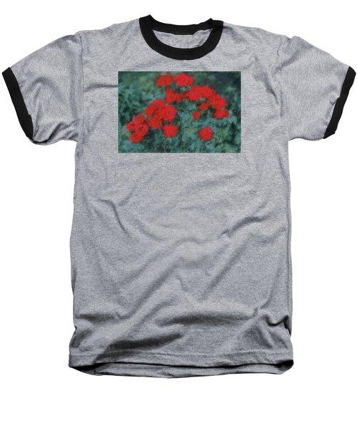 Marilyn's Red Roses Baseball T-Shirt by The Art Of Marilyn Ridoutt-Greene