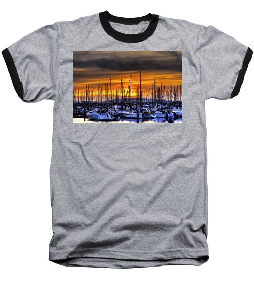Marina At Sunset Baseball T-Shirt