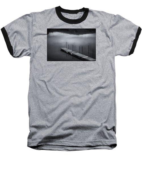 Baseball T-Shirt featuring the photograph Marina Dock by Tom Singleton
