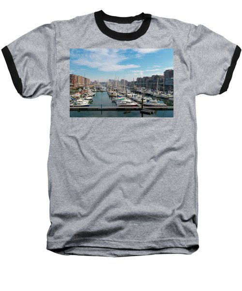 Baseball T-Shirt featuring the photograph Marina In The Netherlands by Hans Engbers