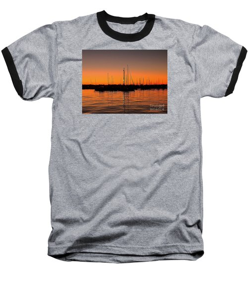 Marina Moonlight Masts Baseball T-Shirt