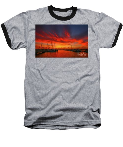 Marina Sunrise - Ft. Pierce Baseball T-Shirt