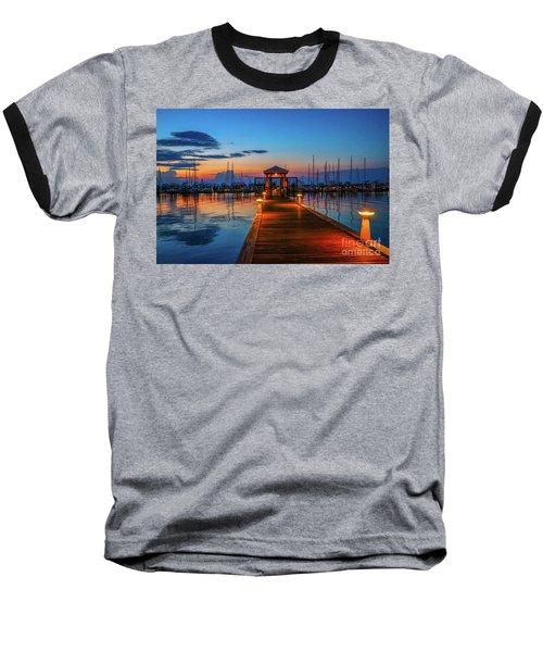 Marina Sunrise Baseball T-Shirt by Tom Claud