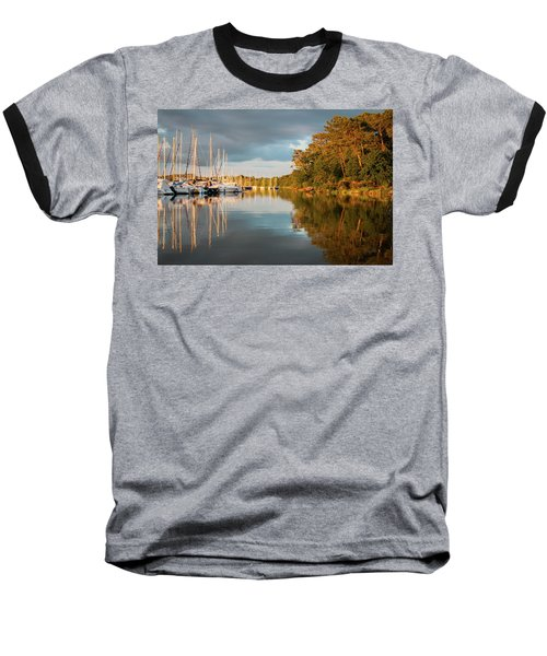 Marina Sunset 10 Baseball T-Shirt