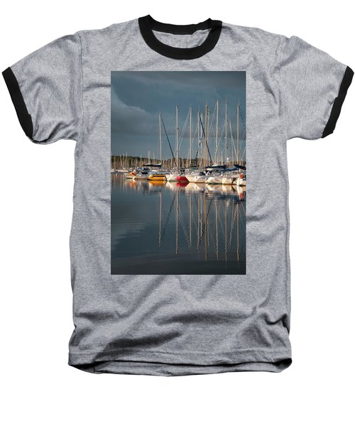 Marina Sunset 8 Baseball T-Shirt