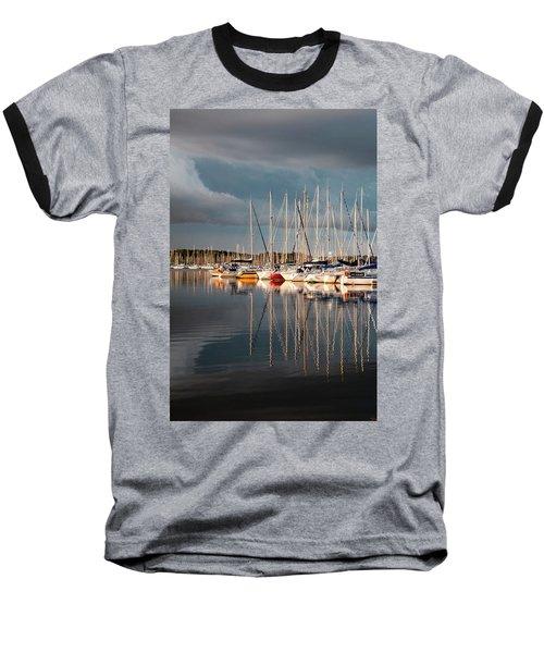 Marina Sunset 9 Baseball T-Shirt