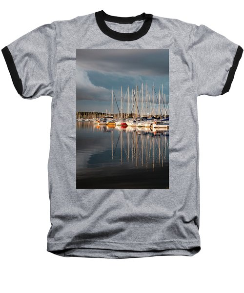 Marina Sunset 9 Baseball T-Shirt
