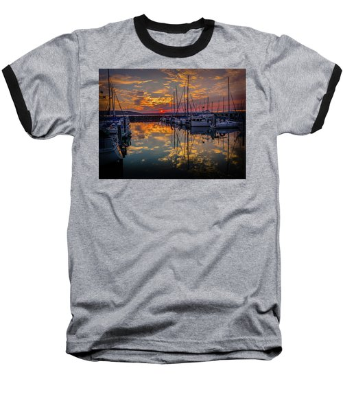 Marina Sunset Baseball T-Shirt