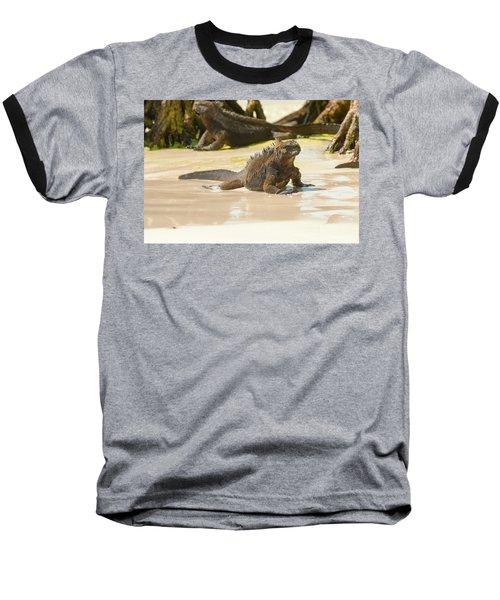Marine Iguana On Galapagos Islands Baseball T-Shirt