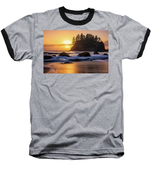 Marine Layer Sunset At Trinidad, California Baseball T-Shirt