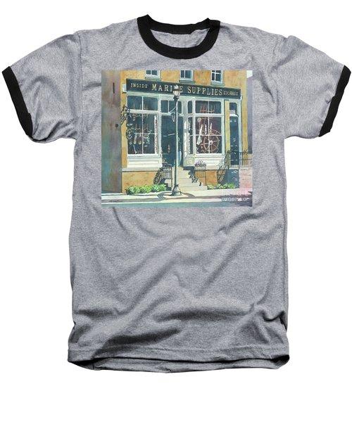 Marine Supply Store Baseball T-Shirt by LeAnne Sowa