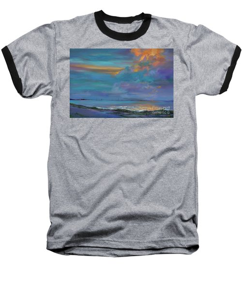 Baseball T-Shirt featuring the painting Mariners Beacon by AnnaJo Vahle
