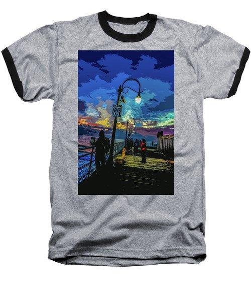 Marine's Silhouette  Baseball T-Shirt