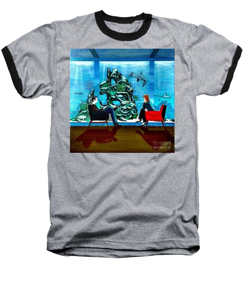 Marinelife Observing Couple Sitting In Chairs Baseball T-Shirt