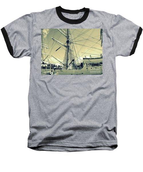 Maritime Spiderweb Baseball T-Shirt by Susan Lafleur