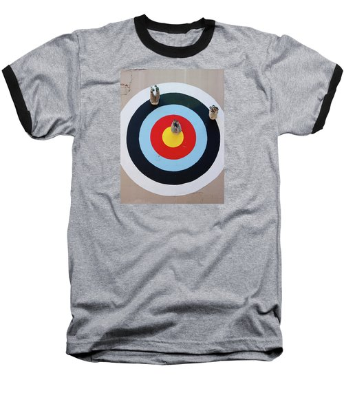 Baseball T-Shirt featuring the photograph Mark Jenkins Target Mural by Jean Haynes