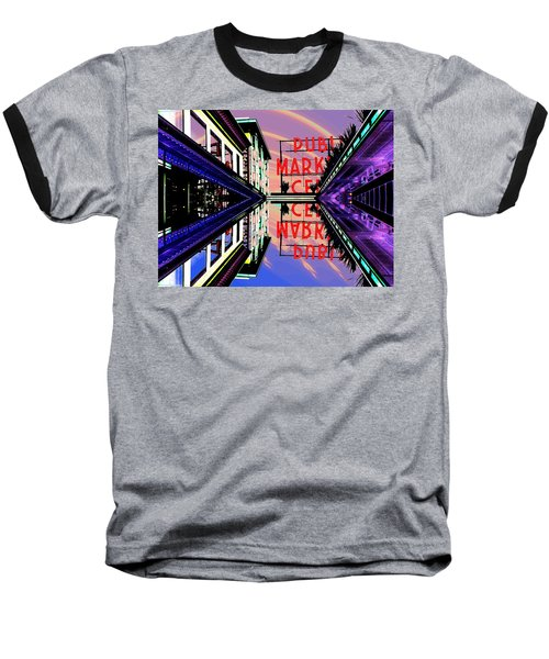 Market Entrance Baseball T-Shirt by Tim Allen