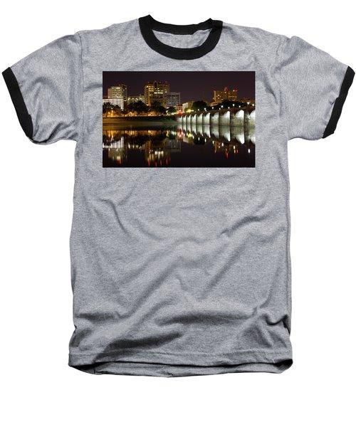 Market Street Bridge Reflections Baseball T-Shirt by Shelley Neff