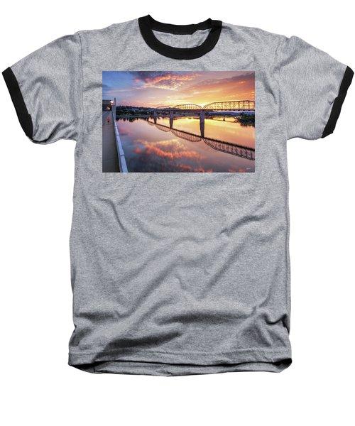 Market Street Jog At Sunrise Baseball T-Shirt by Steven Llorca