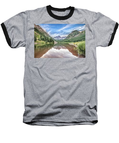 Baseball T-Shirt featuring the photograph Maroon Bells Near Aspen, Colorado by Peter Ciro