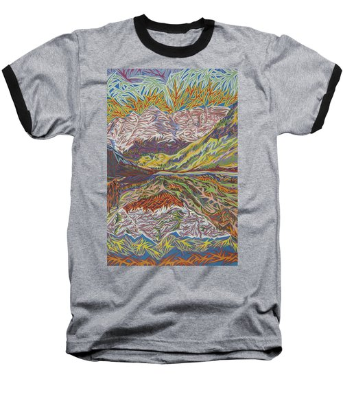 Maroon Bells Baseball T-Shirt by Robert SORENSEN