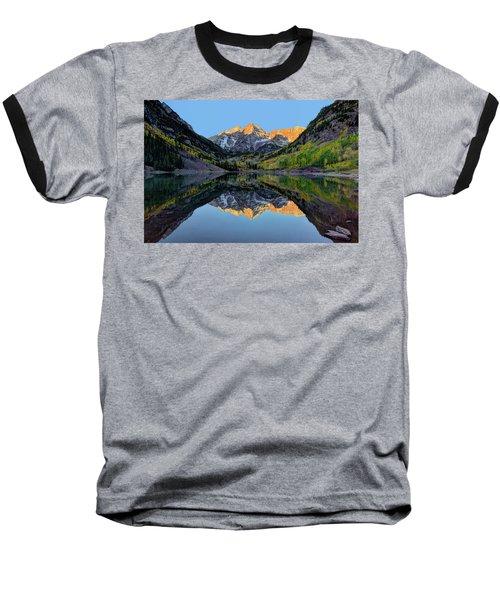 Maroon Bells Sunrise Baseball T-Shirt