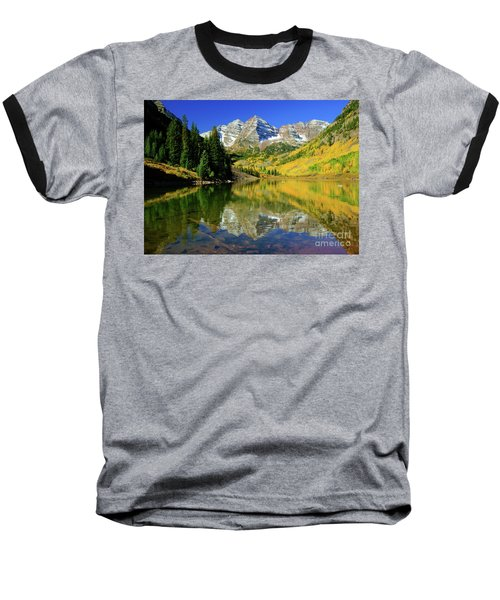 Maroon Lake Autum - 1 Baseball T-Shirt