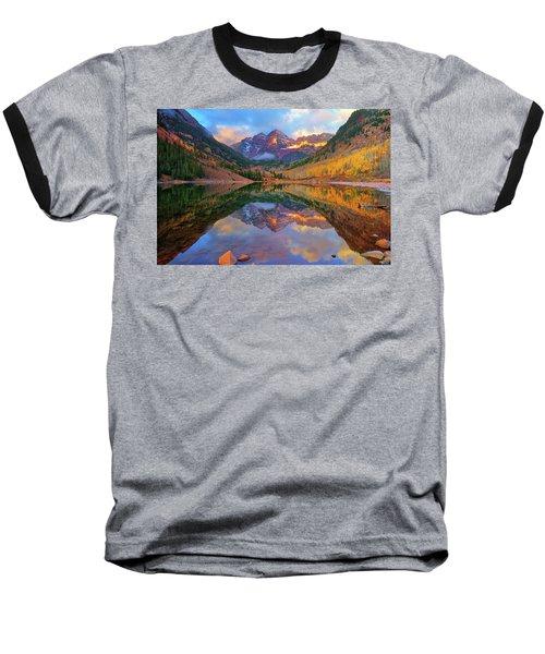 Maroon Lake Dawn Baseball T-Shirt