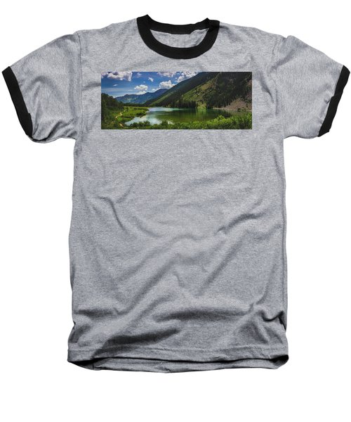 Maroon Lake Panorama Baseball T-Shirt
