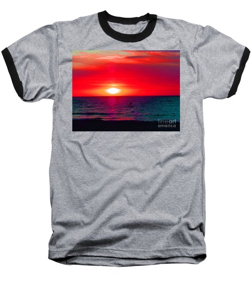 Mars Sunset Baseball T-Shirt