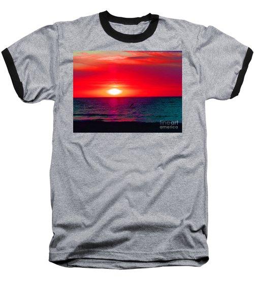 Mars Sunset Baseball T-Shirt