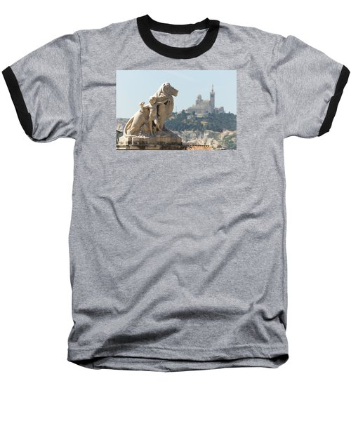 Marseille-saint-charles Statue, France Baseball T-Shirt
