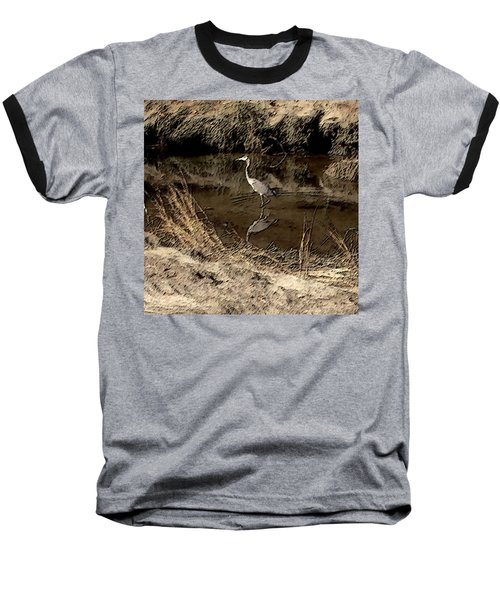 Marsh Bird Baseball T-Shirt