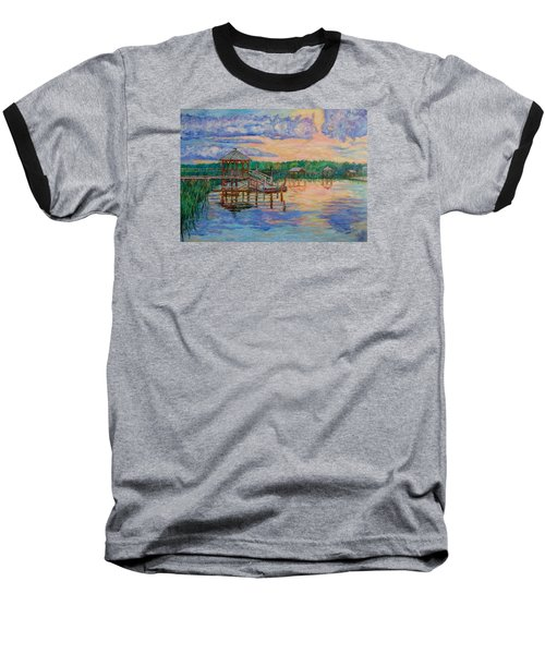Marsh View At Pawleys Island Baseball T-Shirt by Kendall Kessler