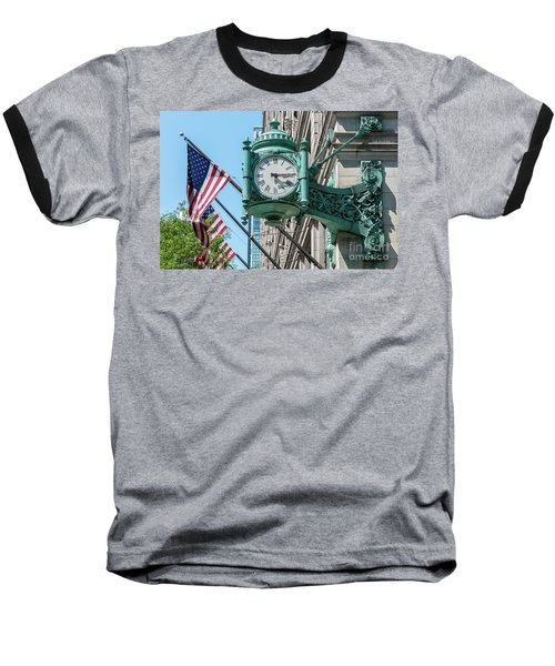 Marshall Field's Clock Baseball T-Shirt