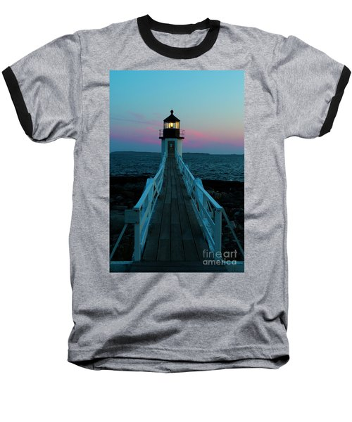 Marshall Point Lighthouse At Sunset Baseball T-Shirt
