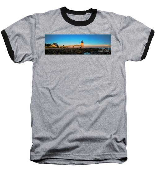 Marshall Point Lighthouse Baseball T-Shirt by Diane Diederich