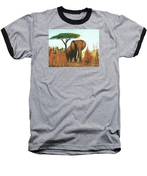 Marsha's Elephant Baseball T-Shirt by Donna Dixon